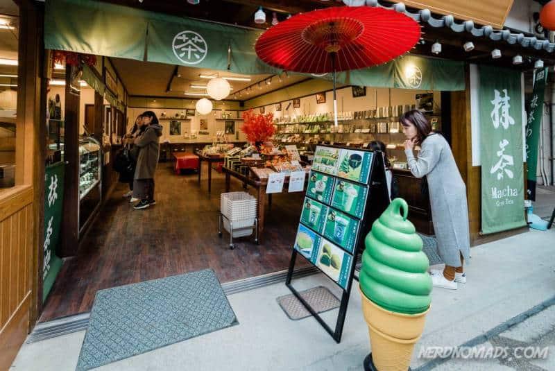 Matcha tea shop at Miyajima Island