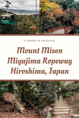 Miyajima Ropway Mount Misen Hiroshima Japan
