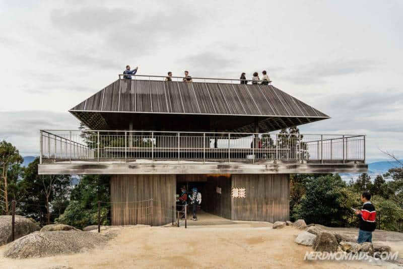 Observatory platform at the top of Mount Misen Miyajima Ropeway