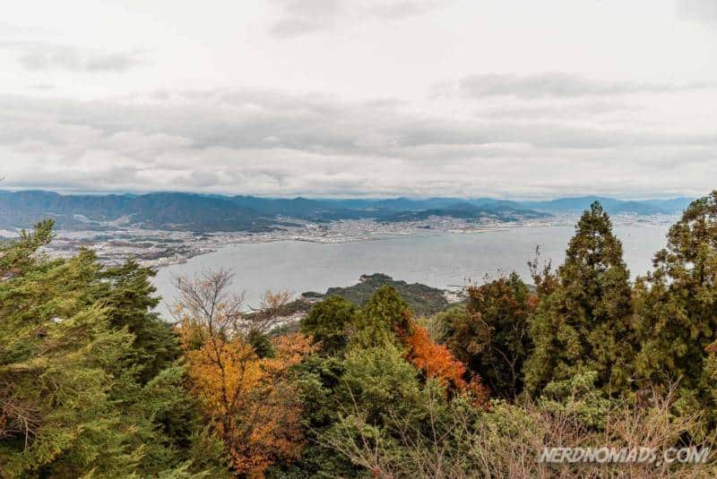 Great view from Mount Misen Miyajima Ropeway