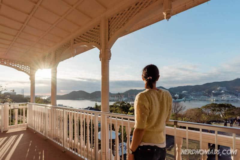 Fantastic view of Nagasaki Harbor from Mitsubishi Docking Building Glover Garden Nagasaki