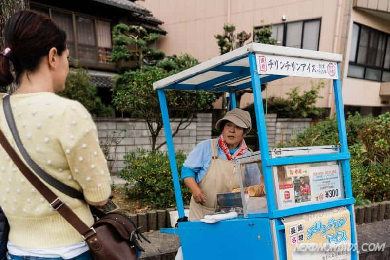 Chirin-chirin ice cream trolley Nagasaki