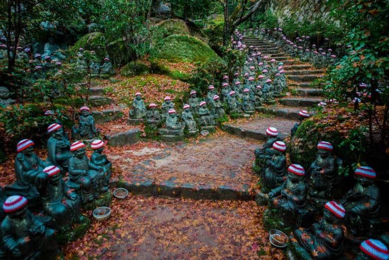 500 Rakan statues at Daishoin Temple
