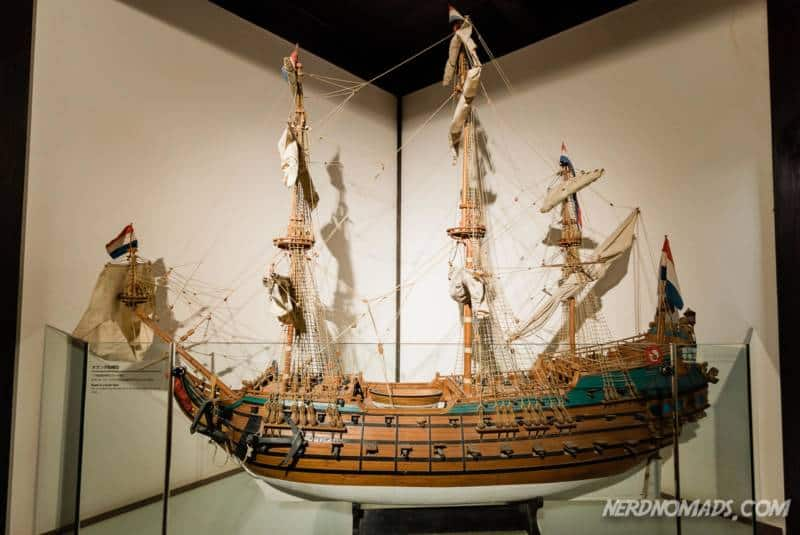 Replica of dutch trading ship at Dejima Nagasaki