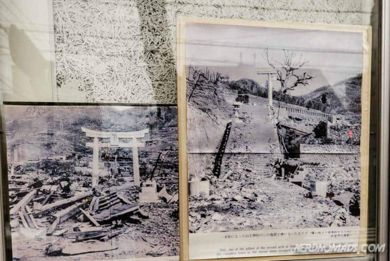 How the one pillar torii gate looked like after the atomic bomb in Nagasaki