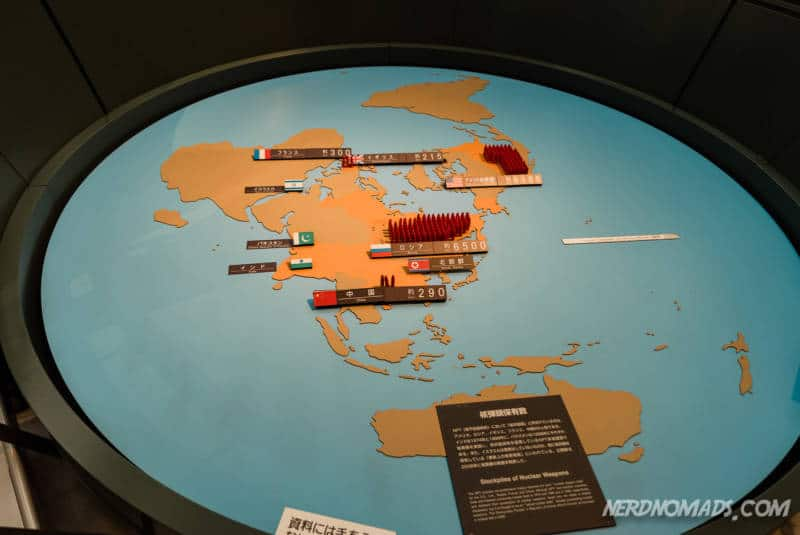 Overview of the worlds atomic bombs at Nagasaki Atomic Bomb Museum