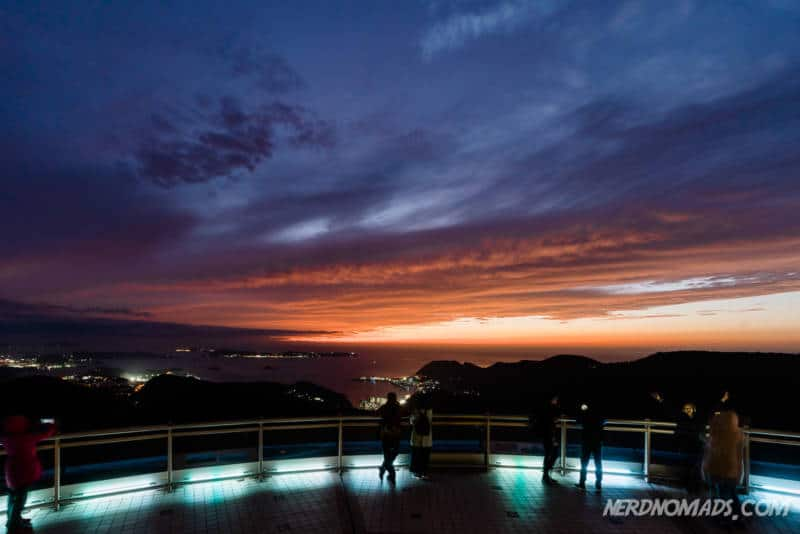 Sunset Nagasaki Ropway Observation deck