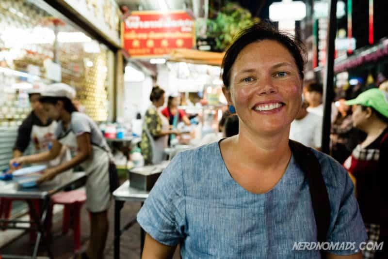 Me eating at Liw Roasted Duck at Yaowarat Street Chinatown Bangkok