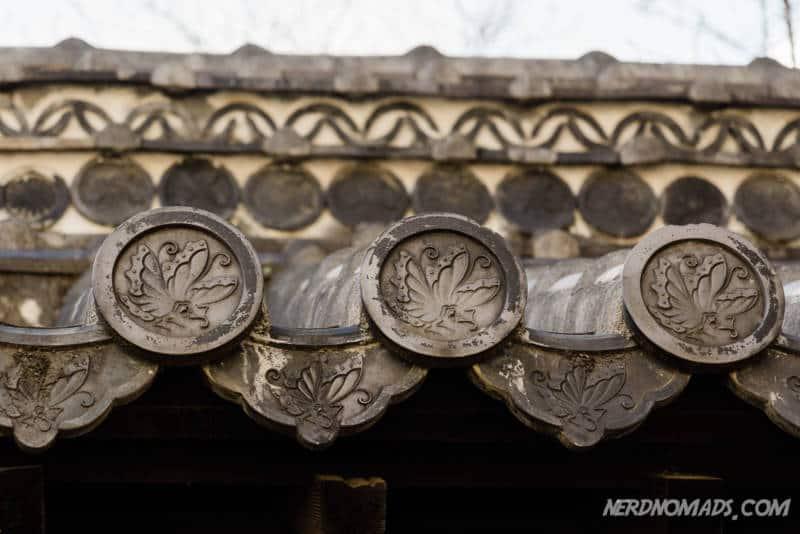 Family crest Butterfly Ikeda Clan Inomon gate Himeji Castle