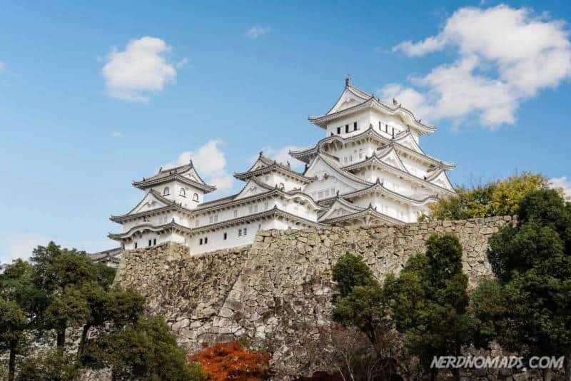 Fan curve stone wall Himeji Castle