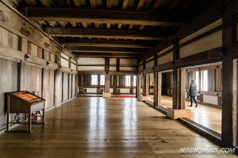 Inside the Himeji Castle