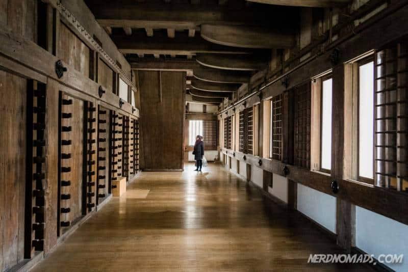 Inside Himeji Castle