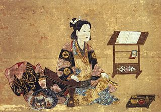 Old painting of Princess Sen Senhime