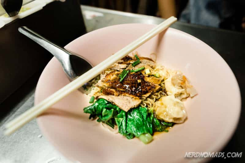 Roasted duck with noodles at Liw Yaowarat Chinatown Bangkok