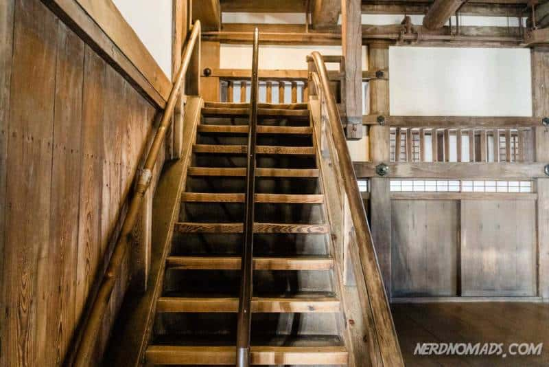 Stairs inside the Himeji Castle