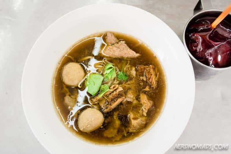 Delicious beef noodle soup at Wattana Panich in Ekkamai Bangkok