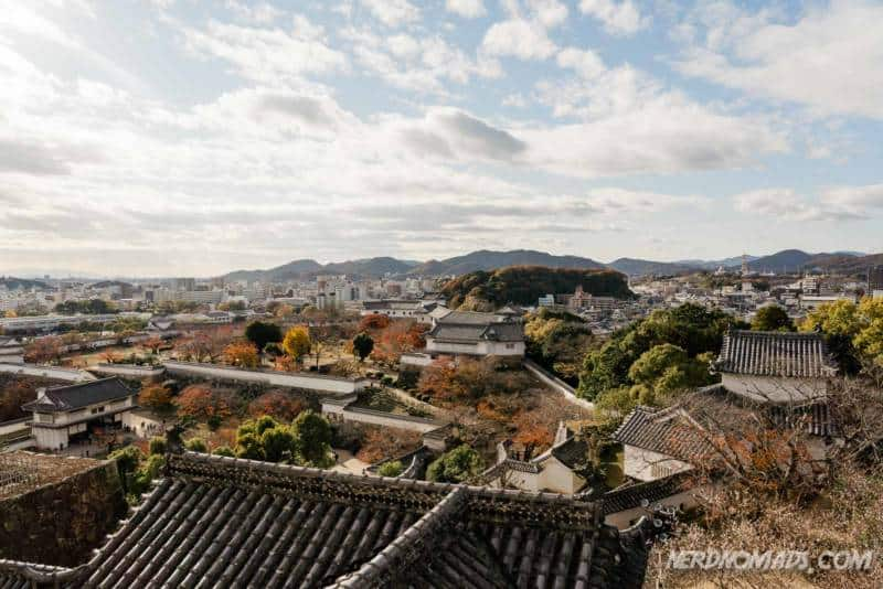 Amazing view from the top floor of Himeji Castle