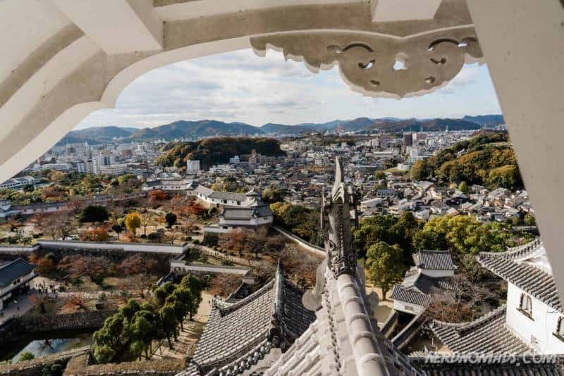 Great view from the top floor of Himeji Castle