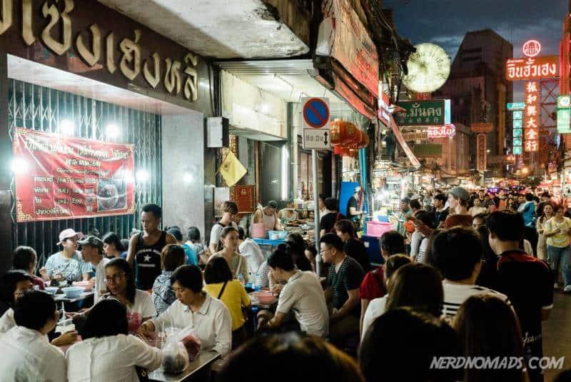Street food at Yaowarat Street Chinatown Bangkok