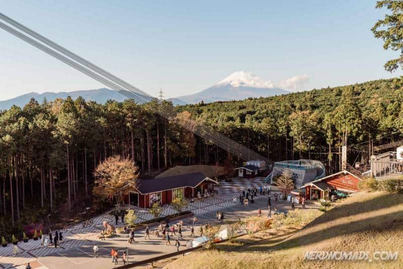 Restaurant and cafe area at Mishima Skywalk Hakone