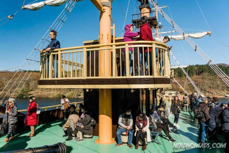 Onboard pirate ship Lake Ashi Hakone