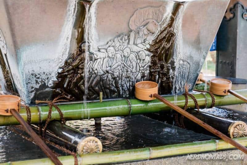 Drinking water Kushida Shrine Fukuoka