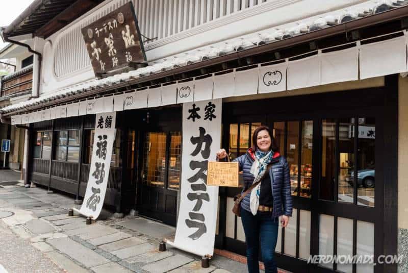 Fukusaya Castella Cake shop in Fukuoka
