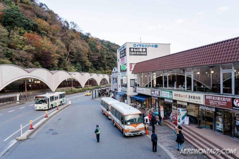 Hakone-Yumoto Station in Hakone