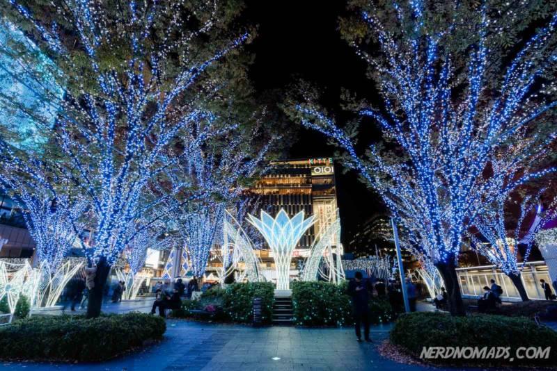 Christmas winter illumination Fukuoka