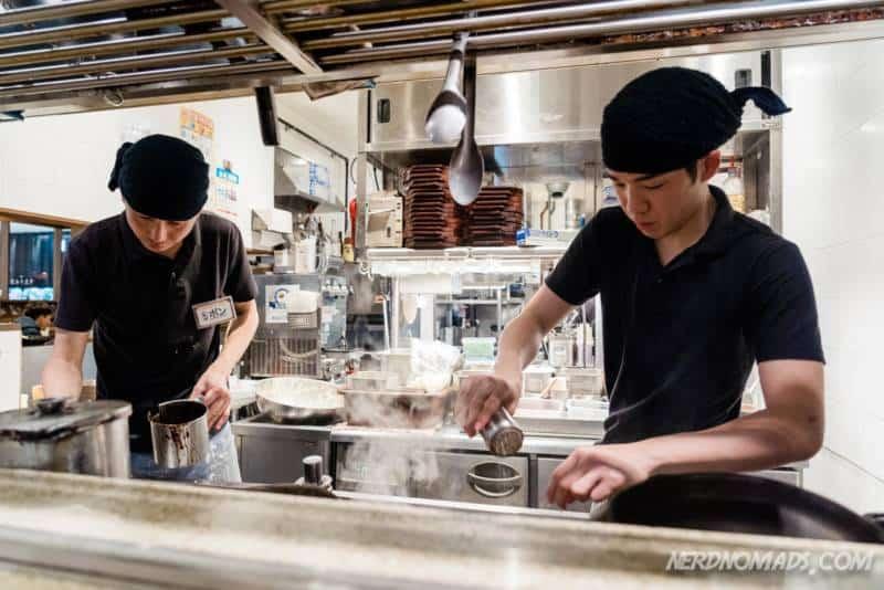 chefs at Ippudo ramen restaurant in Fukuoka
