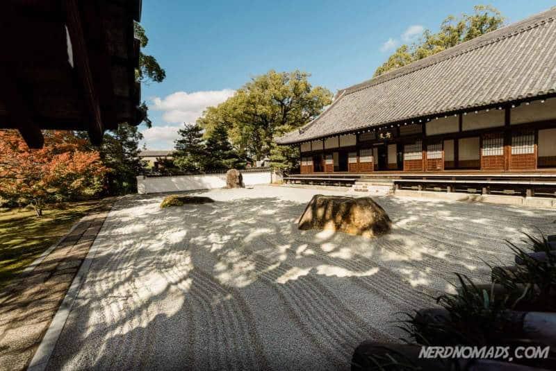 Beautiful sand garden at Jotenji Temple Fukuoka