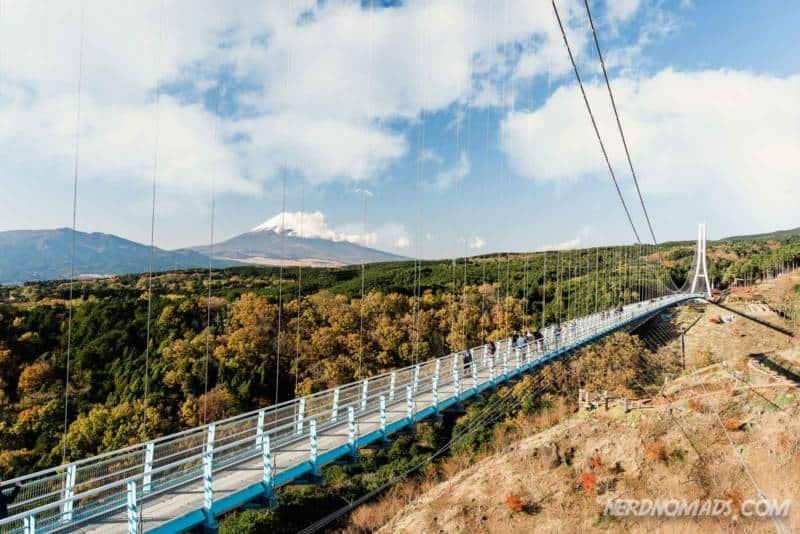 Mishima Skywalk has fantastic view of Mt Fuji