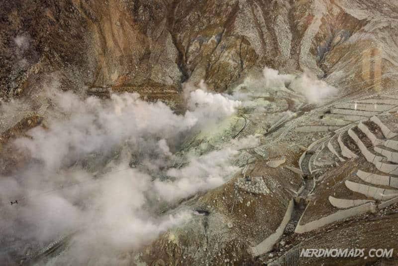 Owakudani great boiling valley hakone japan