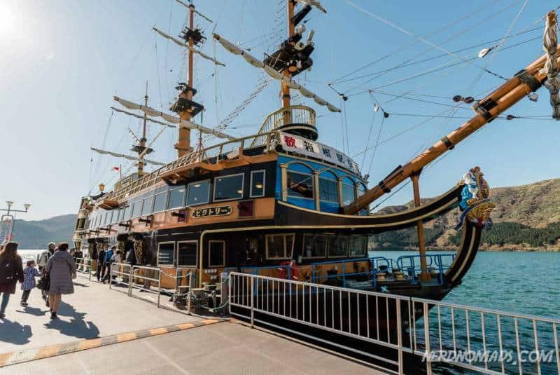 Pirate ship cruise on Lake Ashi Hakone