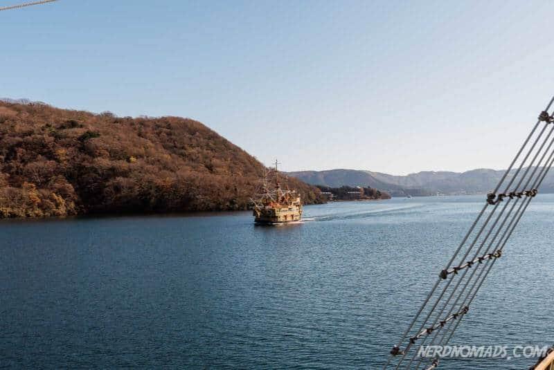 Pirate ship cruise boat on Lake Ashi in Hakone
