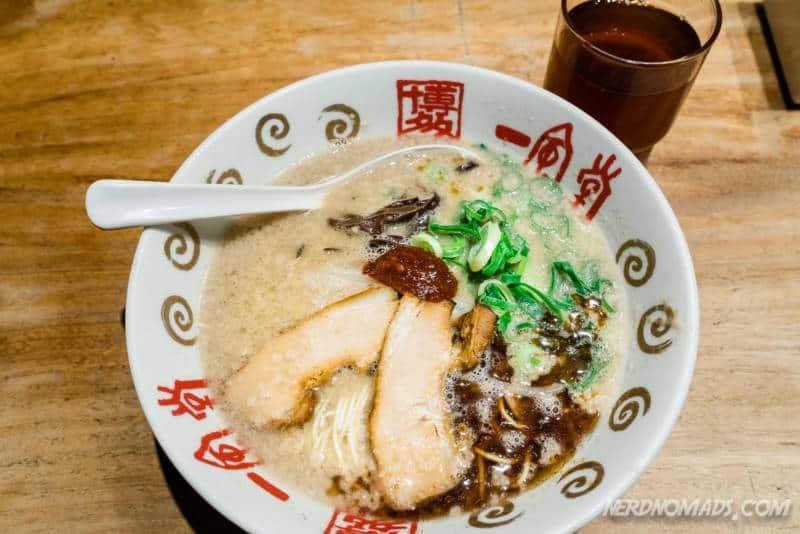 Ramen noodles at Ippudo Fukuoka