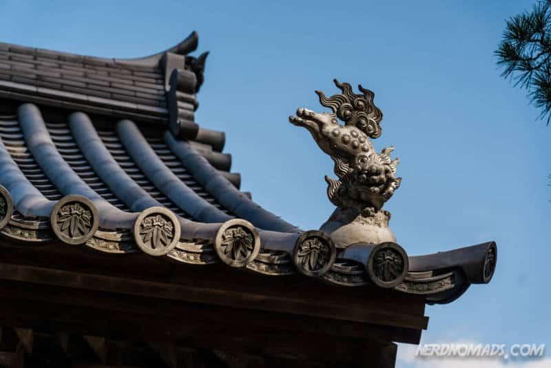 Roof tile decoration Shofukuji Temple Fukuoka