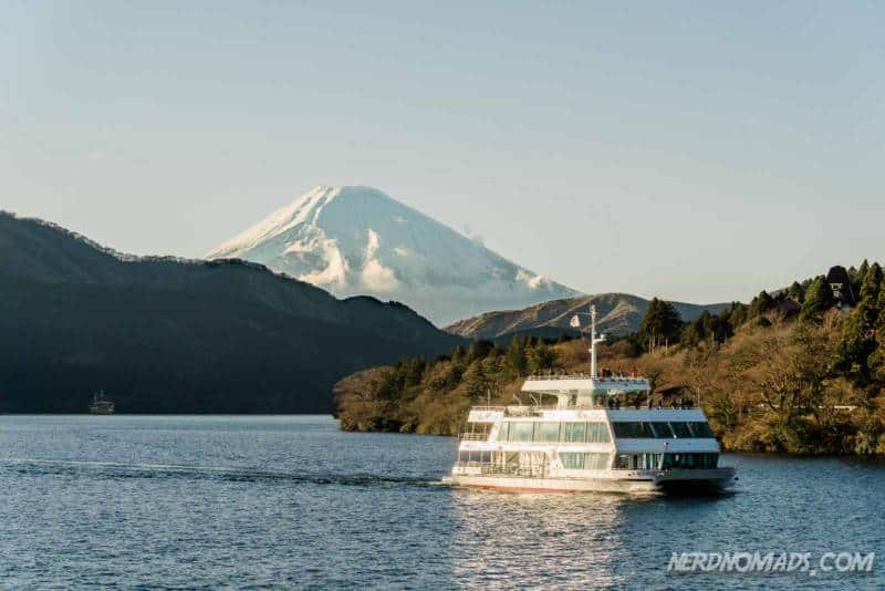 Mount Fuji view on Lake Ashi Hakone