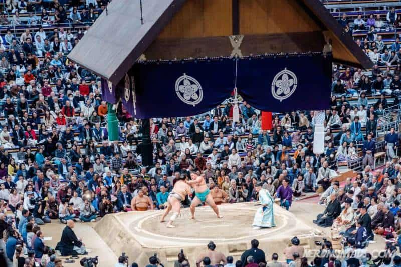 Sumo grand tournament Fukuoka