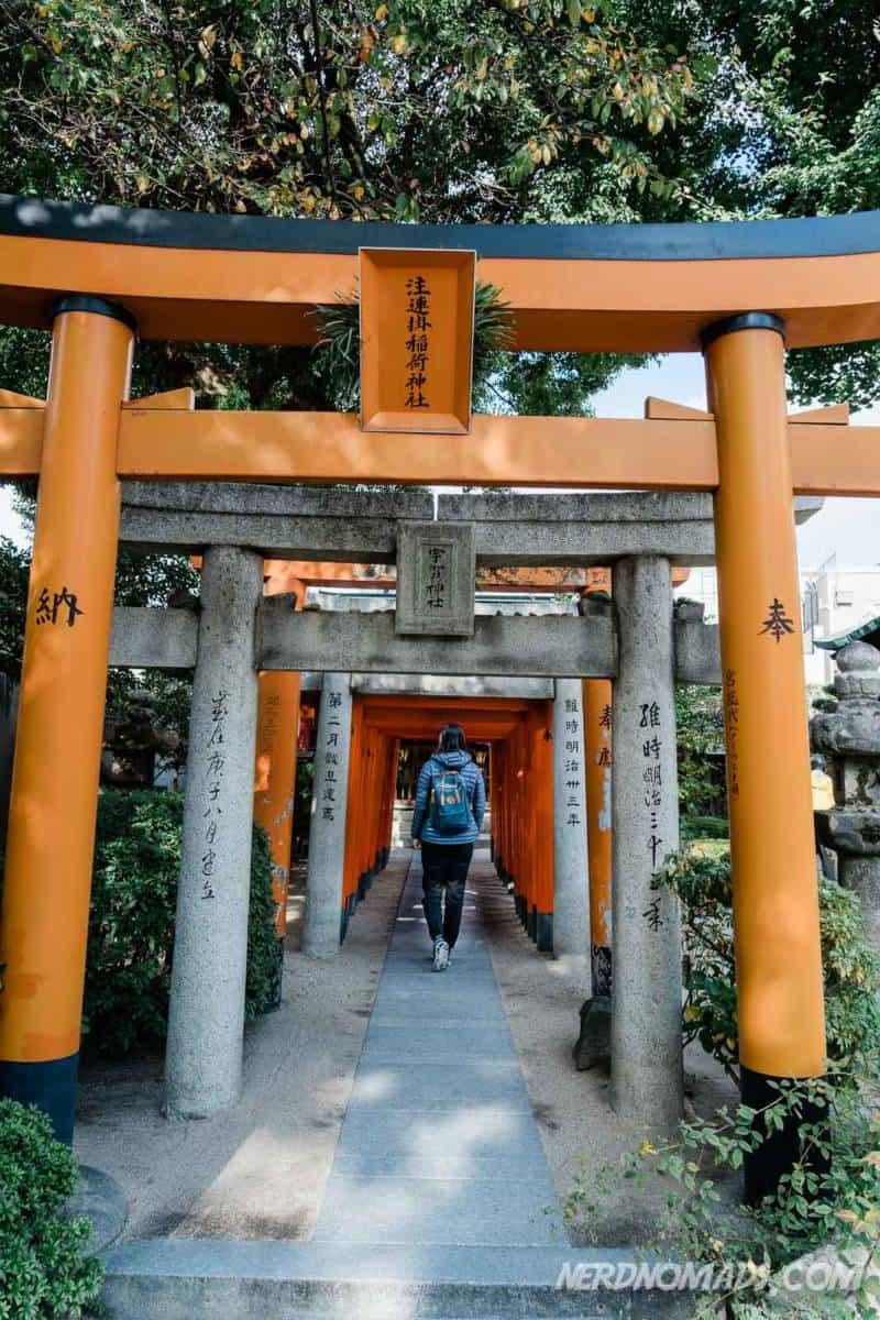 Red torii gate Kushida Shrine Fukuoka