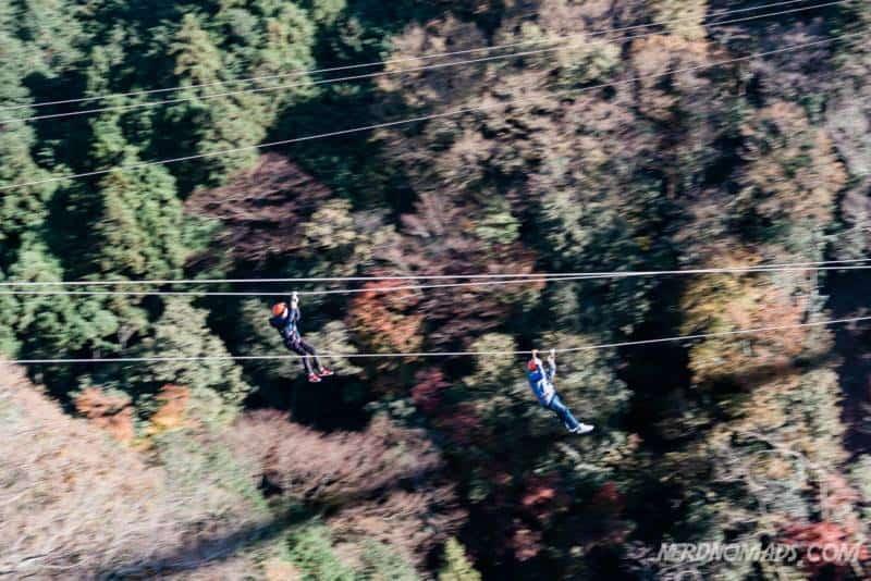 Zipline is great fun at Mishima Skywalk in Hakone