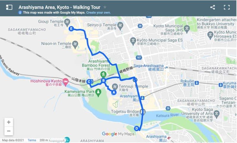 Walking tour Arashiyama area of Kyoto