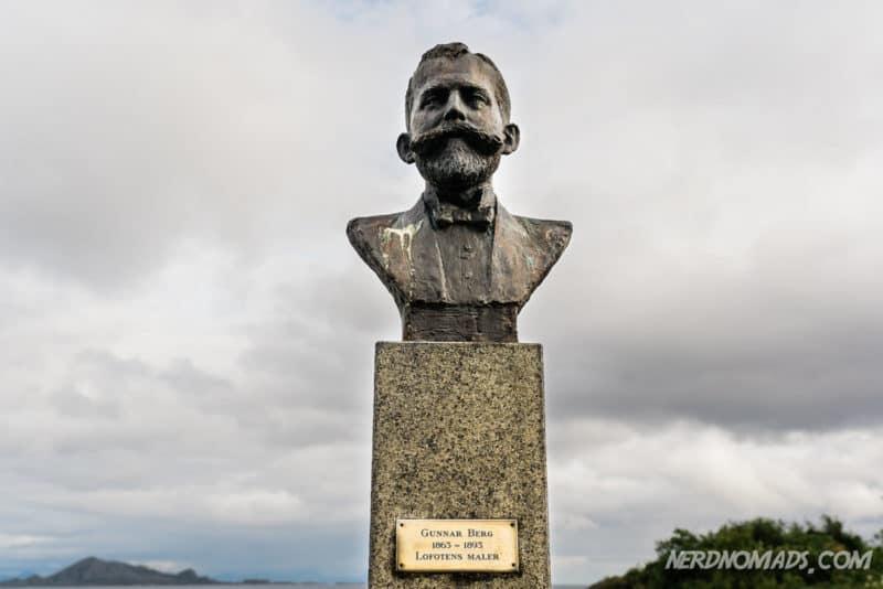 Gunnar Berg Statue on Svinoya, Svolvaer, Lofoten