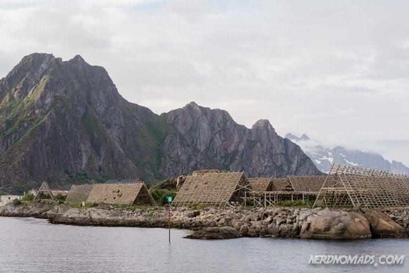 Stockfish fish flakes svinoya svolvaer, Lofoten