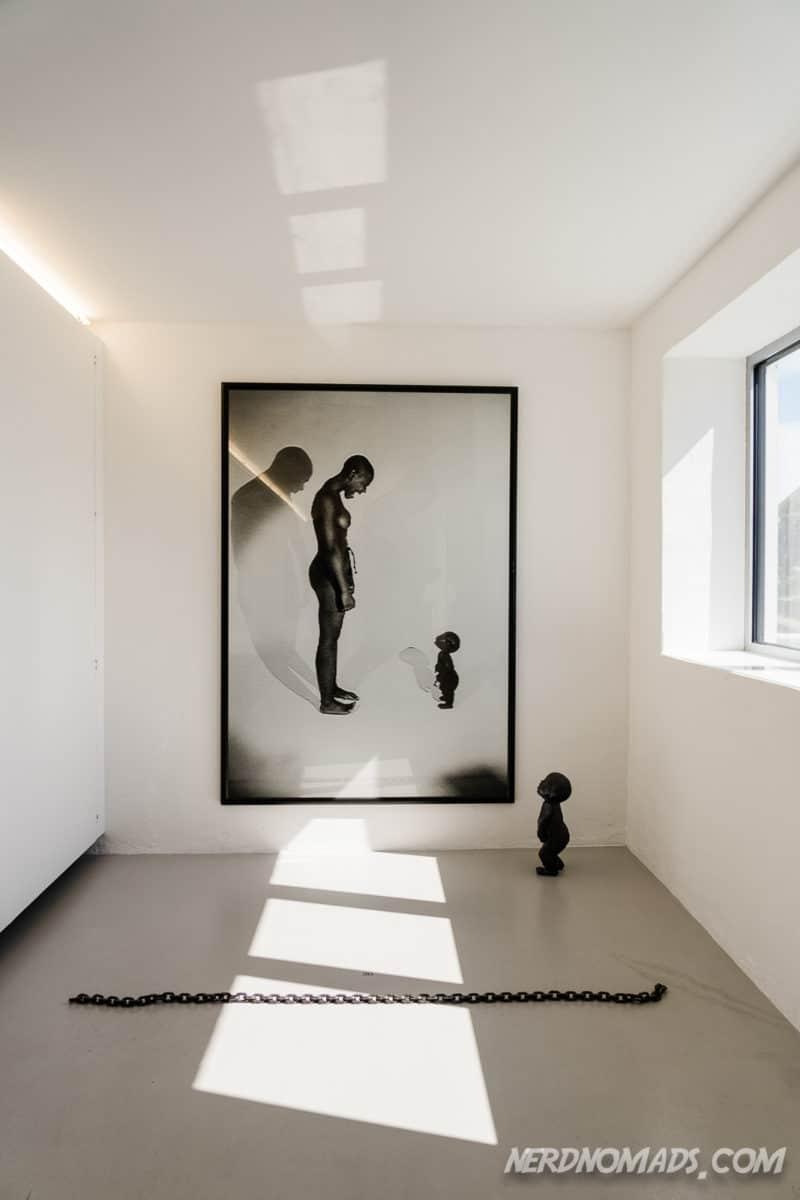 Art work at Kaviar Factory in Henningsvaer Lofoten