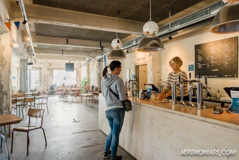 The bar at Trevarefabrikken Henningsvaer Lofoten
