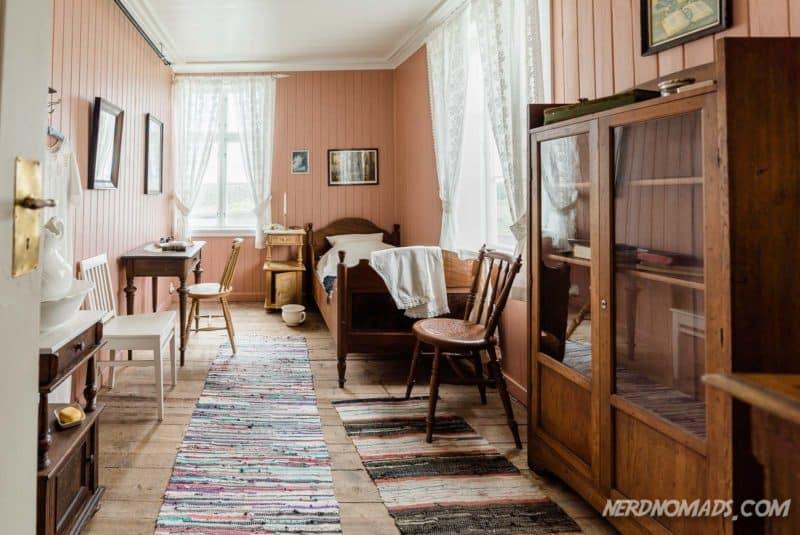 Bedroom at Lofoten Museum in Kabelvag