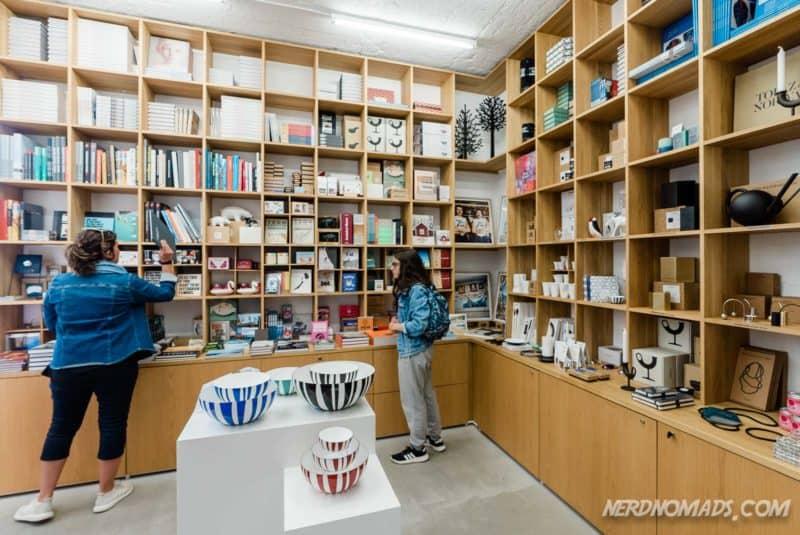 Fantastic book shop at Kaviar Factory in Henningsvaer Lofoten
