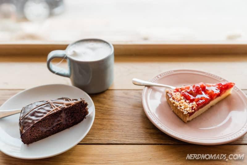 Cakes at Lysstoperiet Cafe Henningsvaer Lofoten