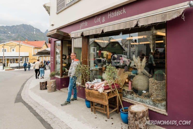Cod & Haddock shop in Henningsvaer, Lofoten